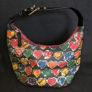Dooney & Bourke Crayon Scribble Rainbow Heart Bag